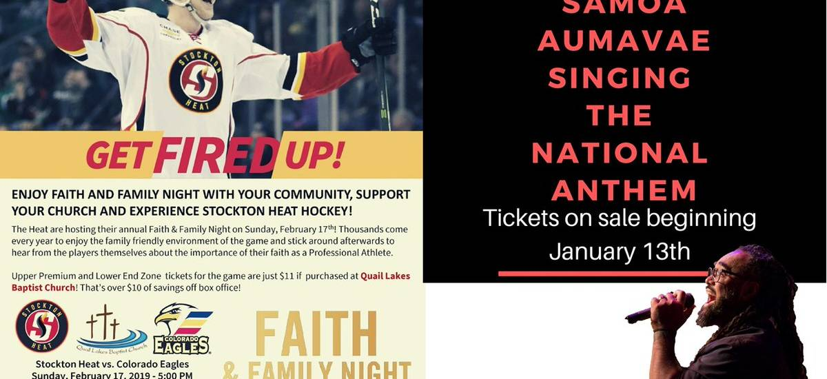 Faith Night at the Stockton Heat