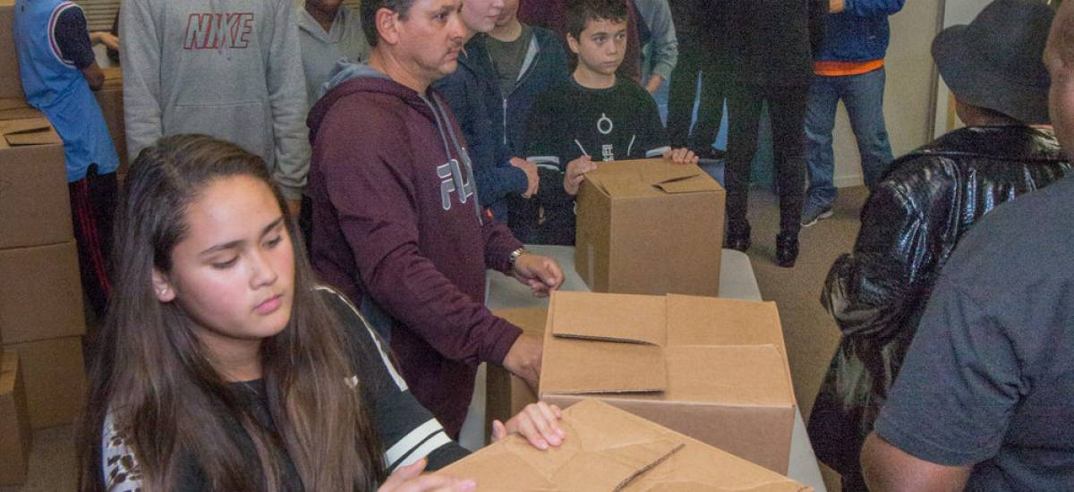 Jr. High Service Day - Thanksgiving Boxes
